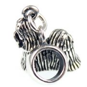 Shih Tzu / Shitzu Dog Sterling Silver Dangle Charm / Carrier Bead